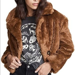 Free People Mena Faux Fur Coat